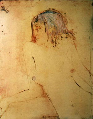 Roger Descombes, Annick, 1976 - Huile sur massonite
